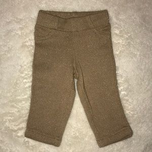 Other - Carter's Gold Sparkle Pull On Pant 0-3 Worn Cute